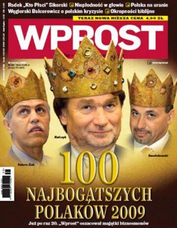 Okładka tygodnika WPROST: 25/2009