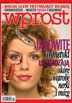 Okładka tygodnika Wprost nr 19/2003 (1067)