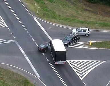 Policyjny dron zarejestrował wypadek. Na filmie doskonale widać, kto...