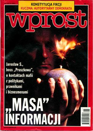 Okładka tygodnika Wprost nr 11/2001 (955)