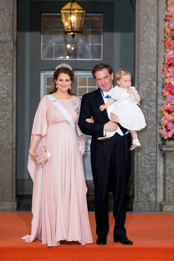 Księżniczka Magdalena z mężem i córką Eleonorą