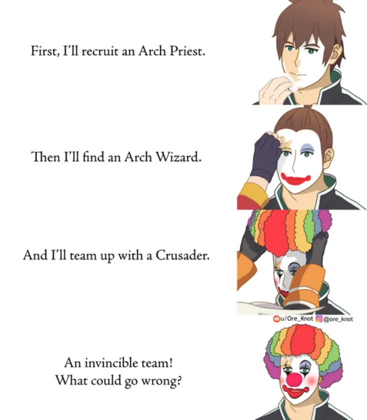 """Mem inspirowany anime """"KonoSuba"""""""