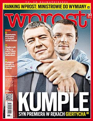 Okładka tygodnika Wprost nr 37/2012 (1543)