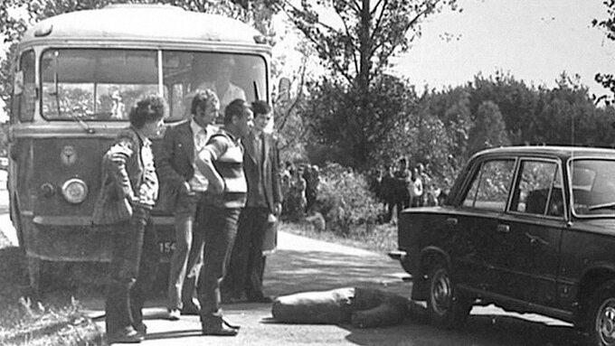 Wizja lokalna po zbrodni w Zrębinie