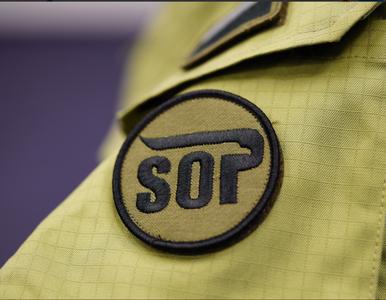 """Uzbrojony funkcjonariusz SOP trafił na izbę wytrzeźwień. """"Był w czasie..."""