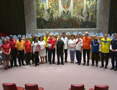 Futbolowa gorączka w Radzie Bezpieczeństwa ONZ. Politycy przyszli w...
