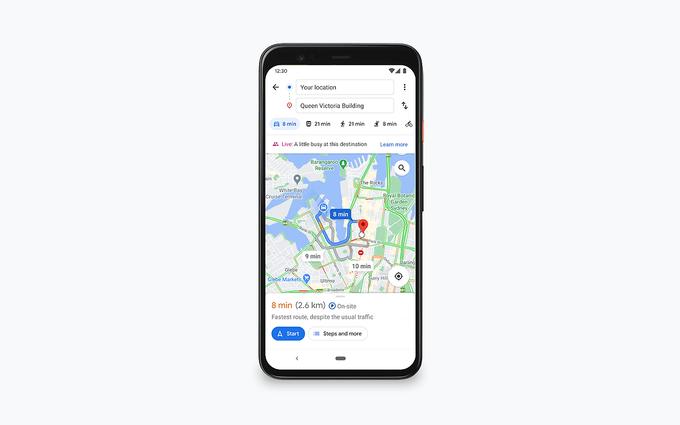 Mapy Google: nowe funkcje