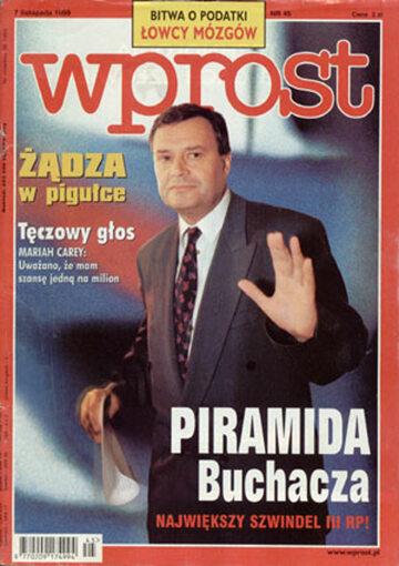 Okładka tygodnika Wprost nr 45/1999 (884)