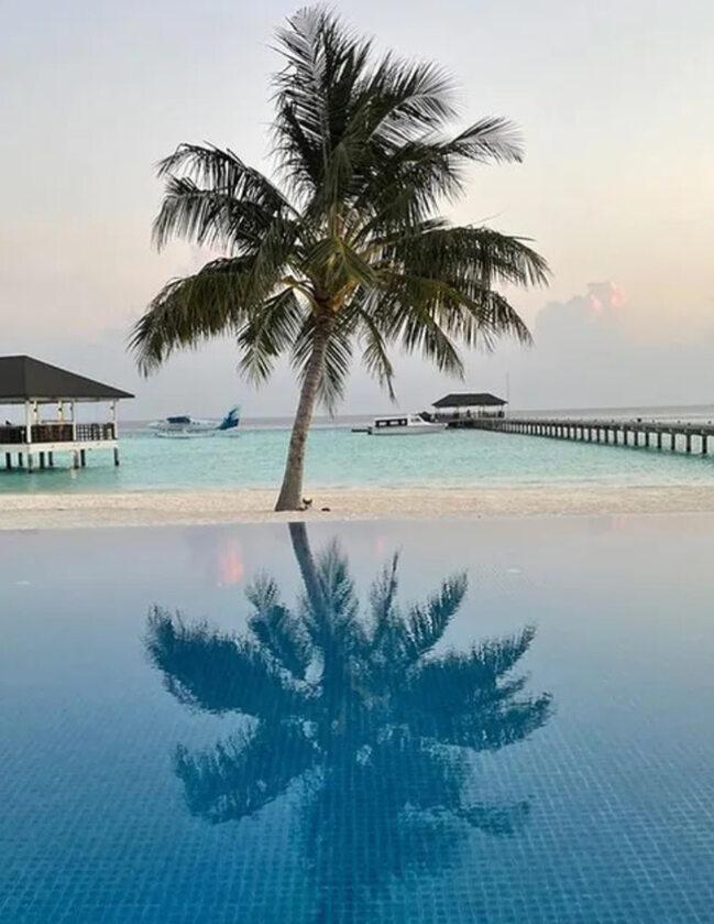 Widok z hotelu Robinson Club Noonu na Malediwach