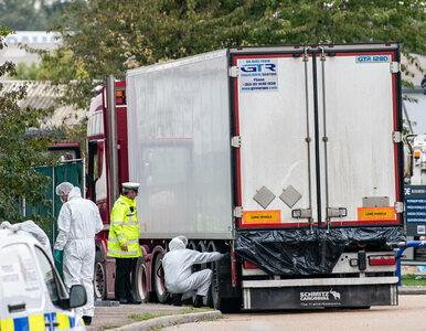 Essex. W ciężarówce znaleziono 39 ciał. Służby aresztowały dwie osoby