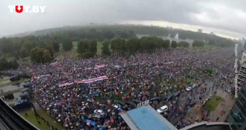Demonstracja w Minsku