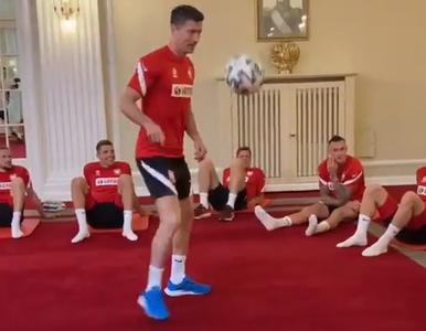 Polacy przed meczem ze Słowacją trenowali w hotelu. W roli głównej...