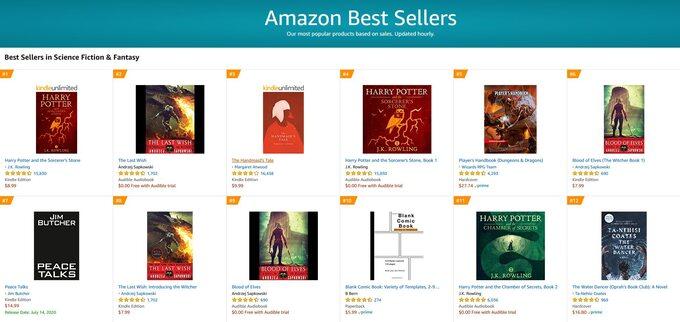 Bestsellery Amazon