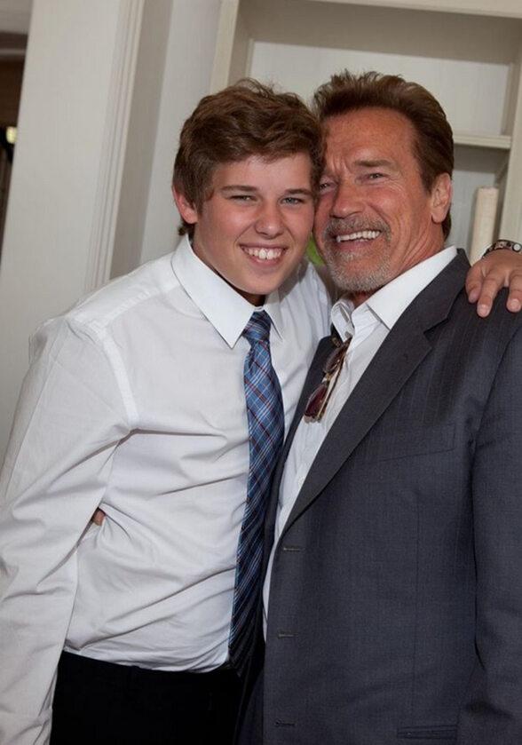 Arnold Schwarzenegger i jego syn Christopher