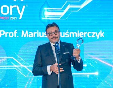 """Prof. Mariusz Kuśmierczyk z nagrodą Innowator 2021 Osobowość. """"Wybitny..."""