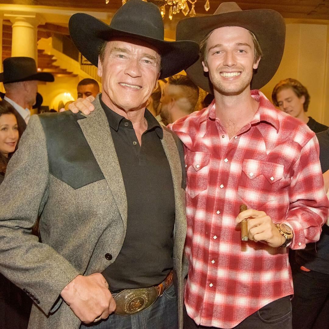 Arnold Schwarzenegger z synem Patrickiem