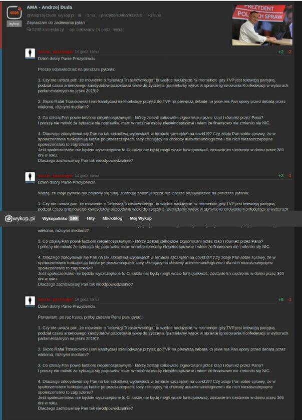Niektóre z pytań, na które Andrzej Duda nie odpowiedział
