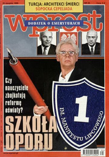 Okładka tygodnika Wprost nr 35/1999 (874)