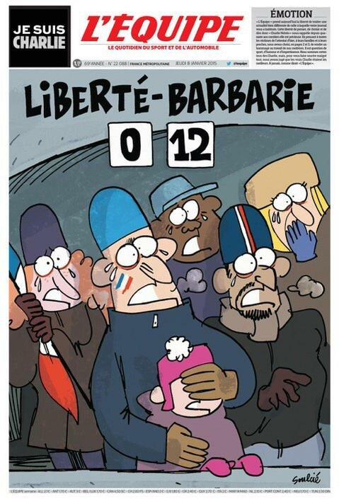 """l'Equipe - """"Wolność: 0 - Barbarzyństwo: 12"""""""