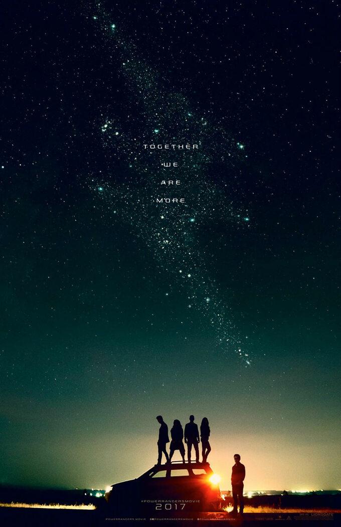 "teaserowy plakat dofilmu ""Power Rangers"" (2017)"