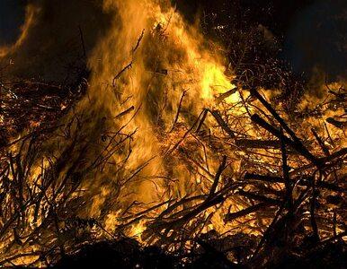 Pożar targowiska przy granicy z Niemcami