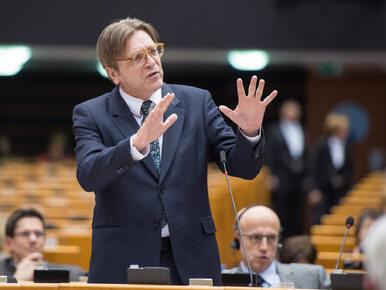 Guy Verhofstadt nawołuje do karania Polski. Chce odebrania prawa głosu...