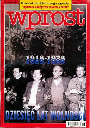 Okładka tygodnika Wprost nr 46/1998 (833)