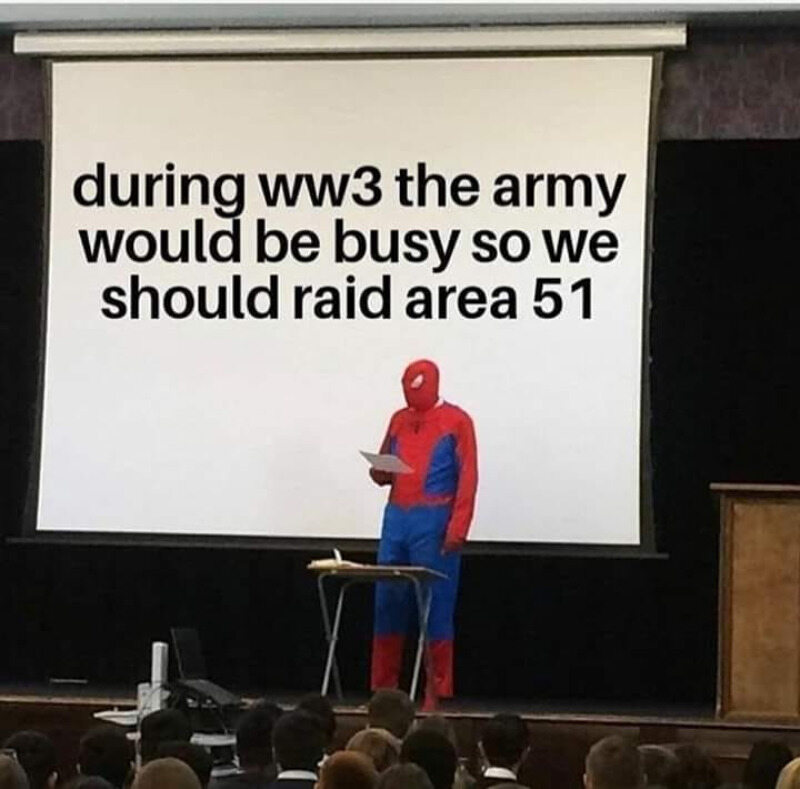 Mem będący reakcją na możliwą wojnę USA z Iranem