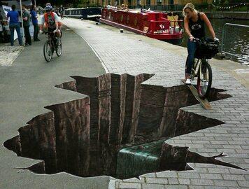 Sztuka uliczna, która zaskakuje i bawi