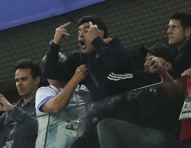 Maradona zrobił show na trybunach podczas meczu Argentyny. W trakcie...