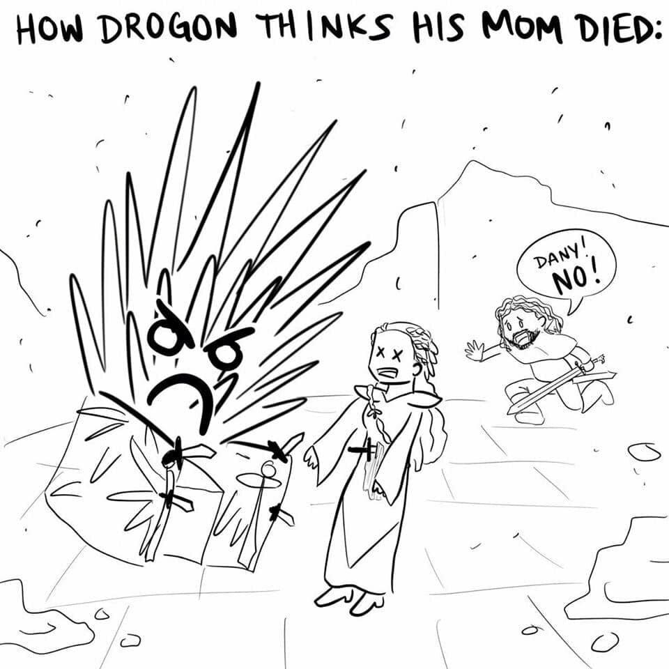 Jak według Drogona wyglądała śmierć Daenerys