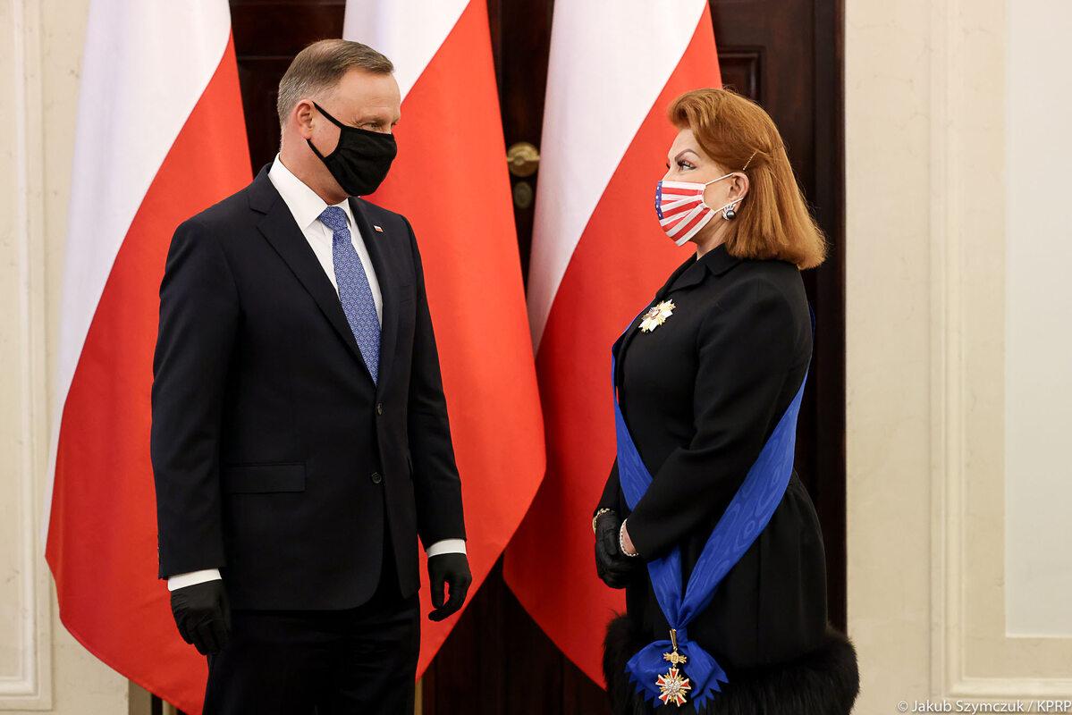 Andrzej Duda i Georgette Mosbacher