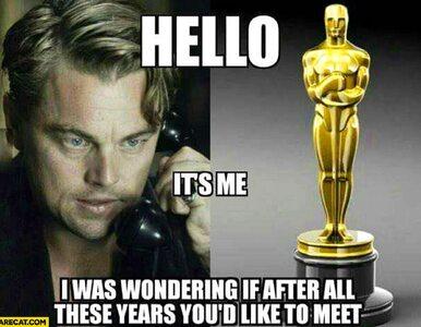 Oscary tuż, tuż. Przedstawiamy najlepsze memy, DiCaprio przez lata nie...