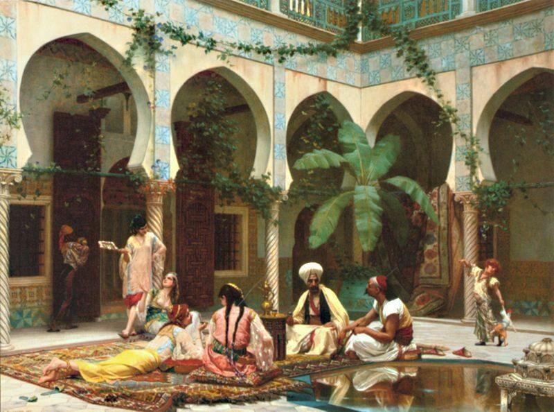 Harem, obraz Gustave'a Boulangera (1824-1888)