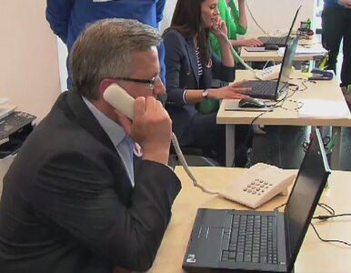 """""""Halo, halo. Tu mówi Bronisław Komorowski"""""""