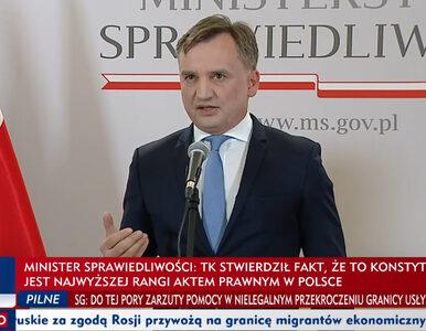 Zbigniew Ziobro komentuje wyrok TK. Minister sprawiedliwości napisał...