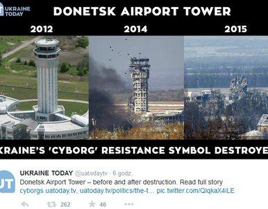 W wyniku ostrzału zawaliła się wieża lotniska w Doniecku