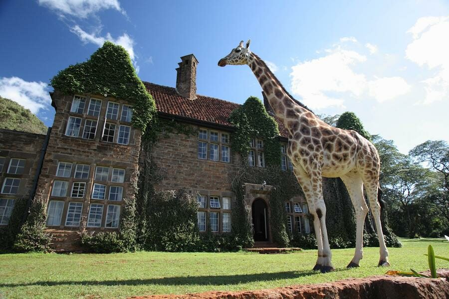 Hotel położony w parku żyraf w Nairobii, w Kenii, od 500$/noc