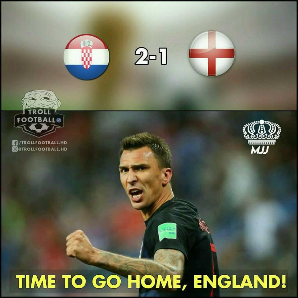 Memy po półfinale Chorwacja - Anglia