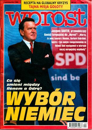 Okładka tygodnika Wprost nr 40/1998 (827)