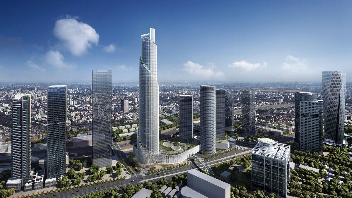 Najwyższy budynek w Izraelu Najwyższy budynek w Izraelu autorstwa Kohn Pedersen Fox