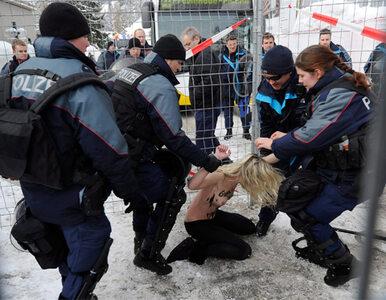 Topless przeciw biedzie. Femenki zatrzymane w Davos