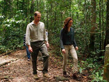Księżna Kate i Książę William na spacerze