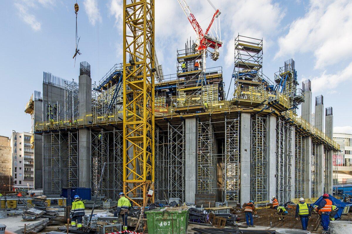 Postępy na budowie Varso Postępy na budowie Varso na koniec Q1 2019