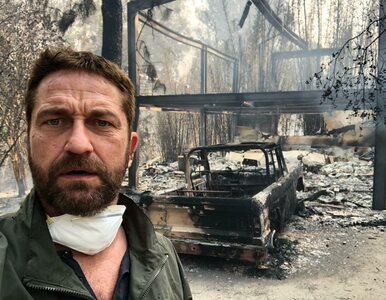 """Gerard Butler pokazał zgliszcza swojego domu. """"To jak strefa wojny"""""""