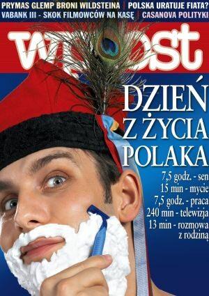 Okładka tygodnika Wprost nr 8/2005 (1160)