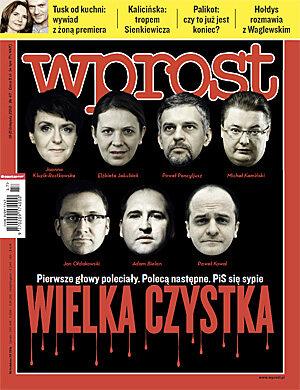 Okładka tygodnika Wprost nr 47/2010 (1450)