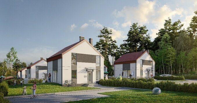 16 mieszkań zogródkami w8 kameralnych budynkach, 800 m odplaży : www.slonecznedebki.pl