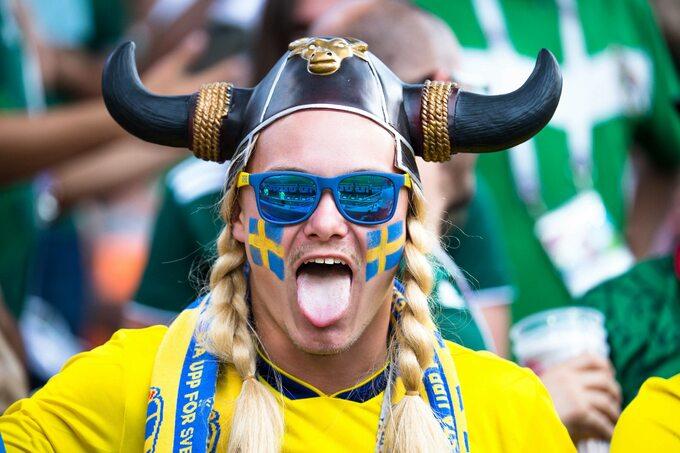 Kibic reprezentacji Szwecji