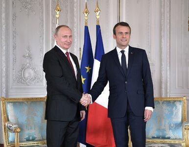"""Macron przyjął Putina. Ten zaczął od tradycyjnej """"zagrywki"""""""